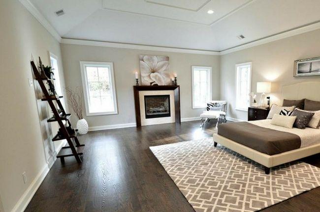 How To Decorate With Gray Walls And Dark Hardwood Flooring Bedroom Decorating Dark Hardwood Gray Walls Oak Floor Stains Flooring Trends Bedroom Flooring