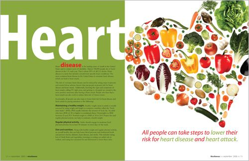 Health magazine layout