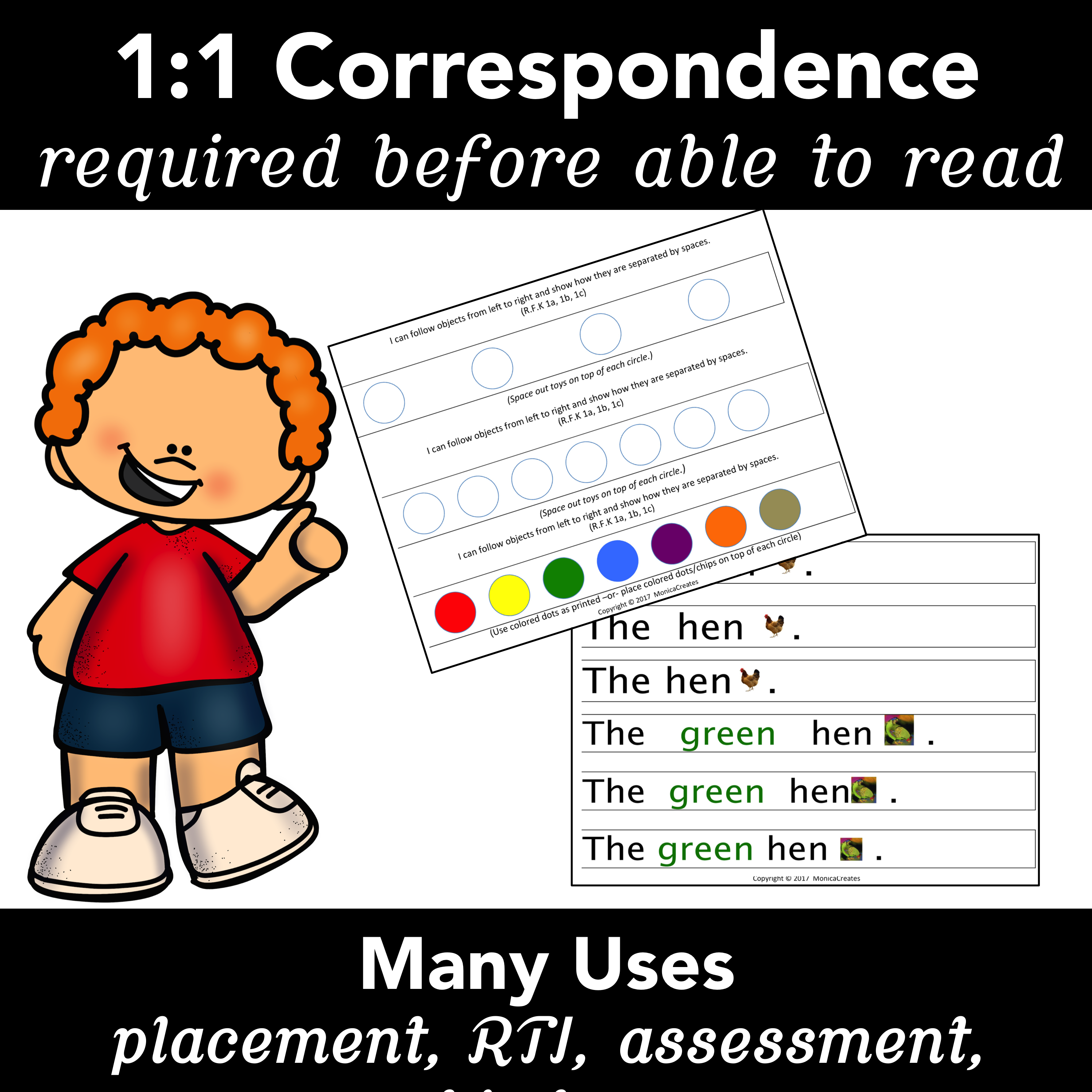 1 1 Correspondence Helps Beginning Readers Make Text To