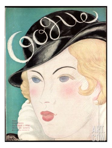 Vogue Cover - October 1931 Regular Giclee Print by Georges Lepape at Art.com