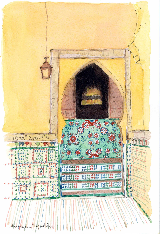 Aquarelle Originale Peinture Maroc Peinture Orientaliste Maison