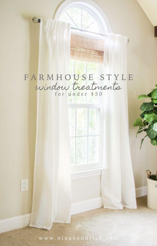 Stylish Budget Window Treatments   Farmhouse style, Window and ...