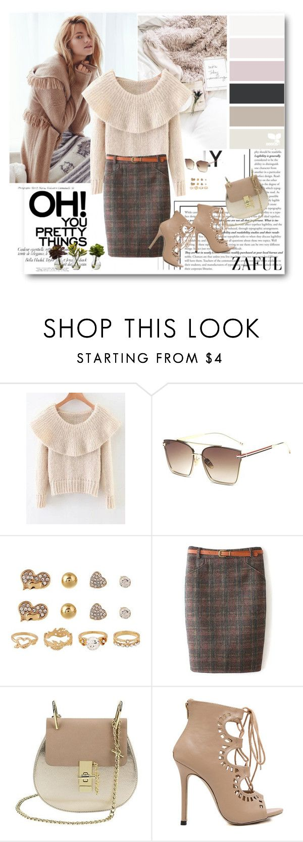 """""""Fluffy Overlayed Sweater"""" by merylicious91 ❤ liked on Polyvore featuring Nearly Natural and zaful"""