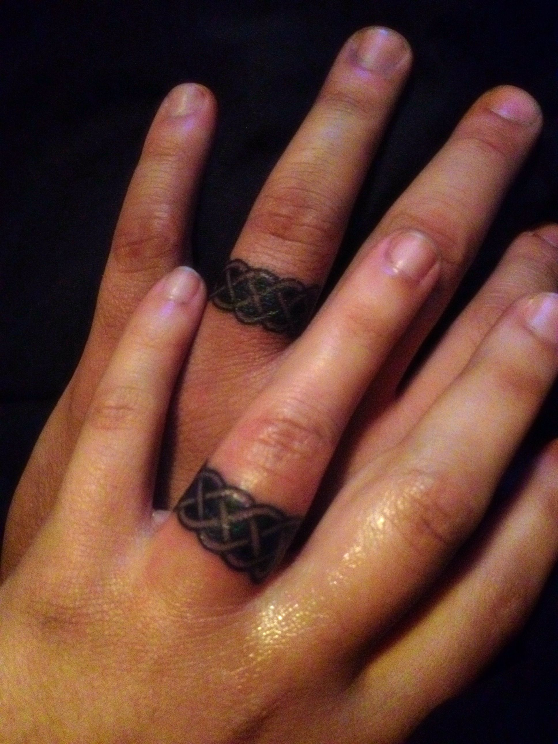 it new finger ring tattooed got my wedding hubby for randal pin rings tattoo on