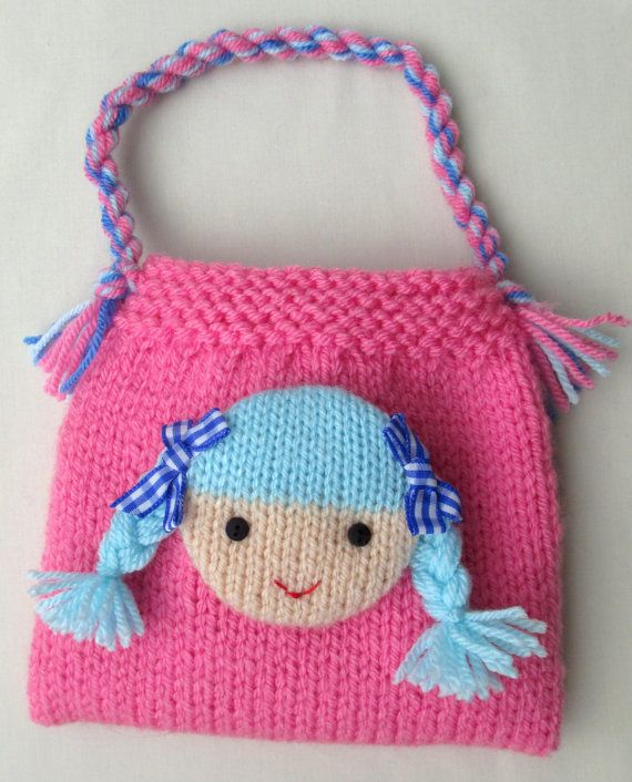 Jolly Dolly Bags - 6 (15cm) - knitting patterns - INSTANT DOWNLOAD #craftstomakeandsell