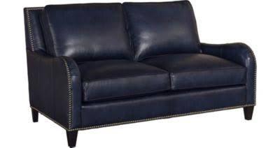 Havertys Blue Leather Sofas