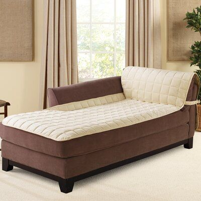 Sure Fit Deluxe Comfort Quilted Armless Box Cushion Chaise Lounge