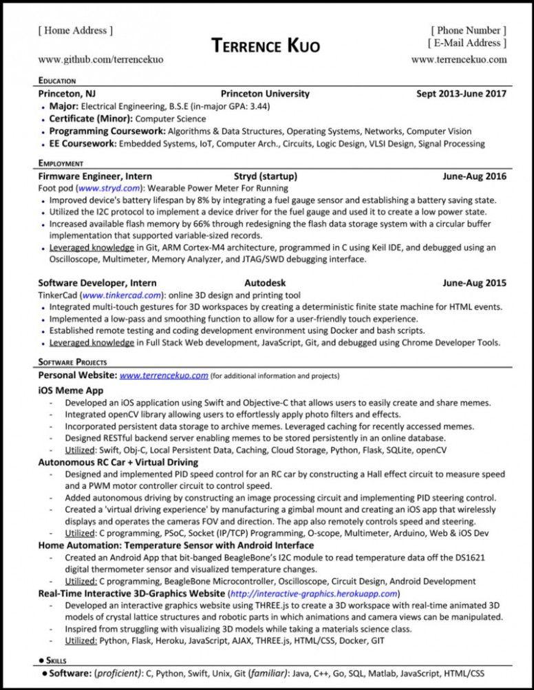 Sample Resume For Fresh Graduate Mining Engineering
