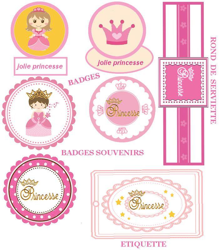 10 X Personnalisé rose petite princesse fête d/'anniversaire merci faveur balises