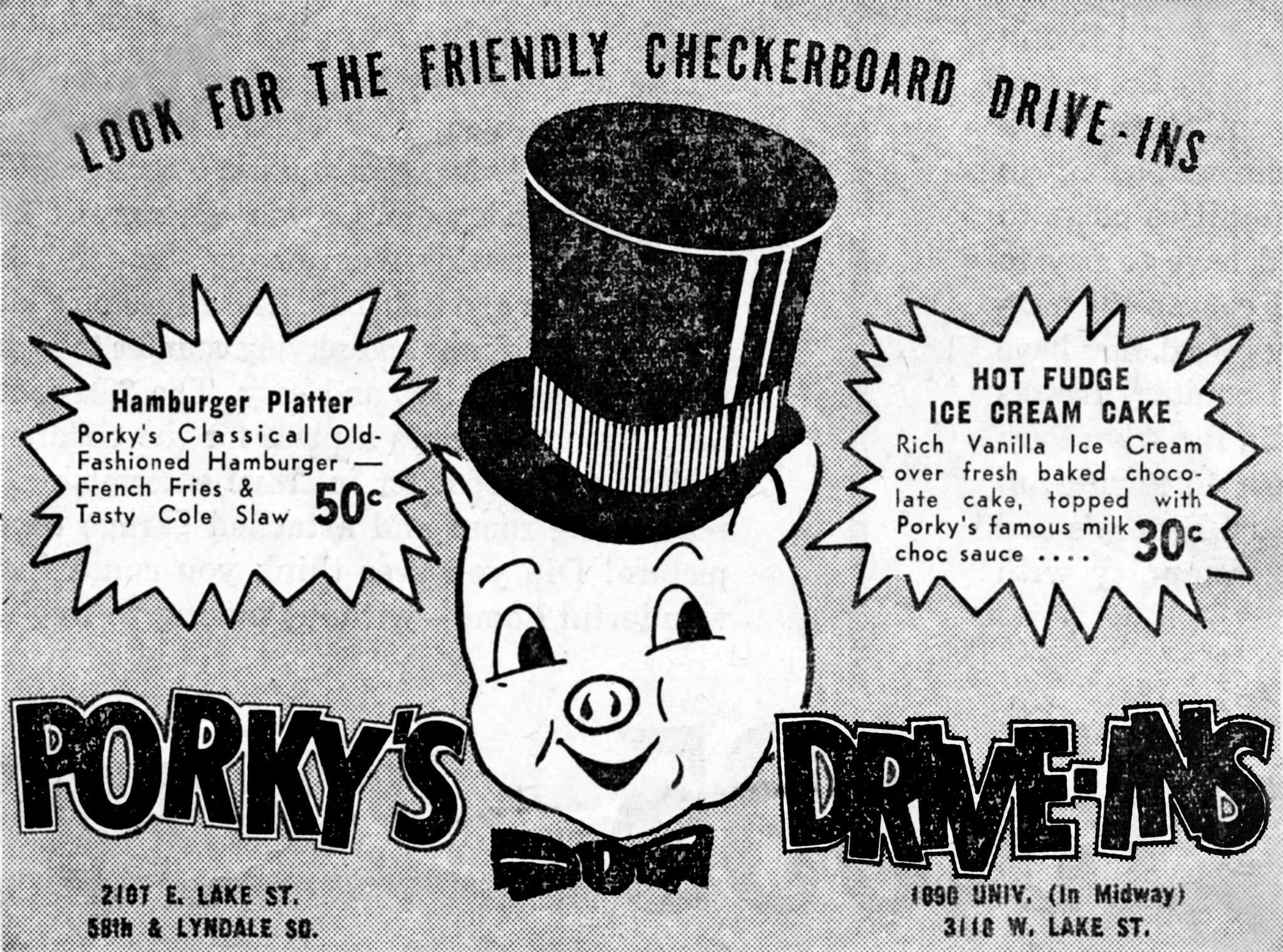 Roy Father And Ray Son Truelson Opened Several Porky S Drive In Restaurants The Early 1950s Including One At 21st Ave East Lake Street