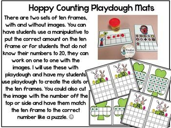 March Math Centers for Kindergarten! This set will reinforce the following skills: Counting, Number Sequencing, 2D shapes, Subitizing, Base Ten Numbers, Writing Numbers to 20, Addition, Ten Frames to 20, and Number Bonds. $