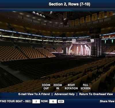 concerts at td garden. #2 Tickets 11/12/13 Elton John Concert LOGE 2 ROW 8 SEAT Concerts At Td Garden
