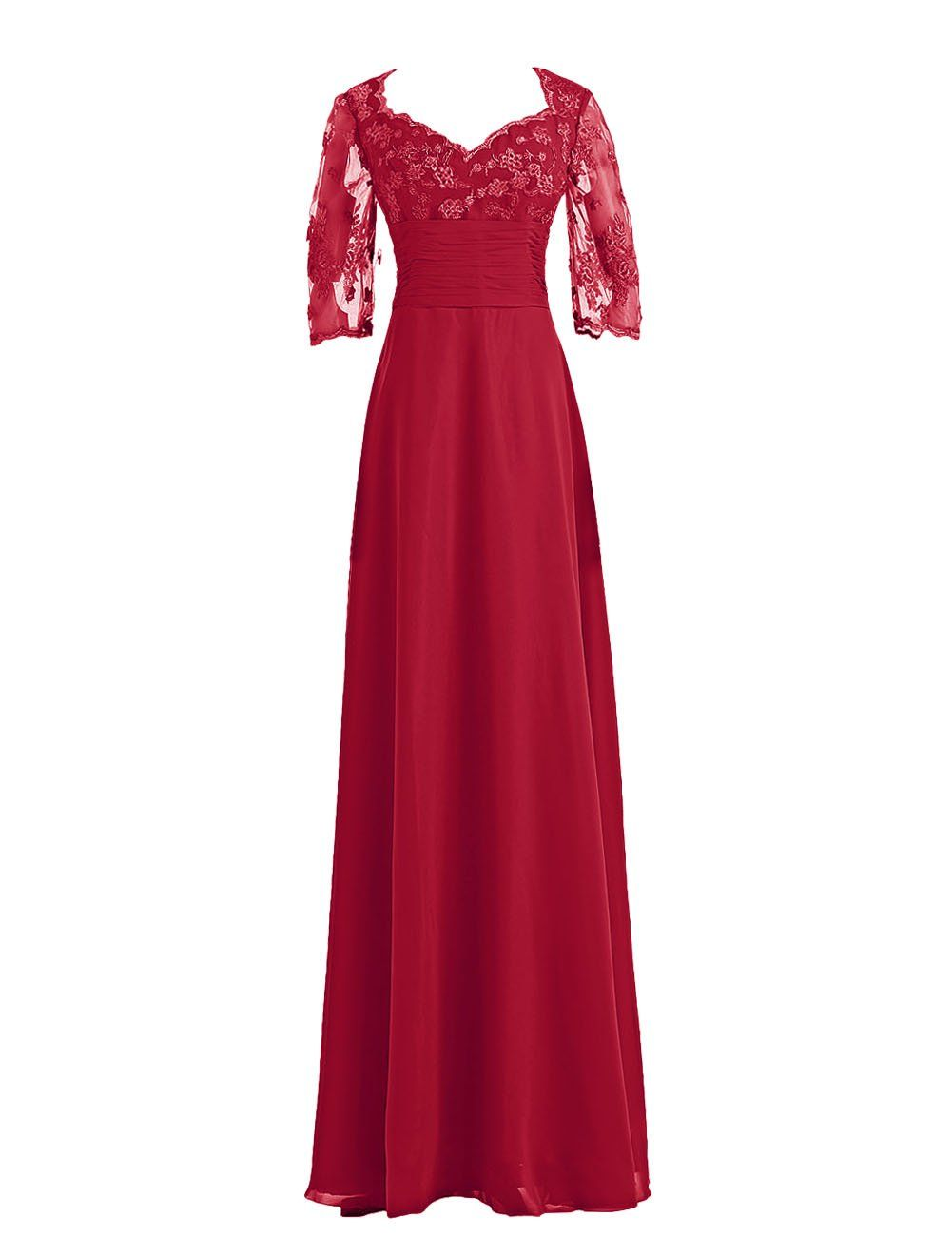 Wedding dresses for mother of the bride  Diyouth  Lace Sleeves Chiffon Mother of the Bride Dress at Amazon