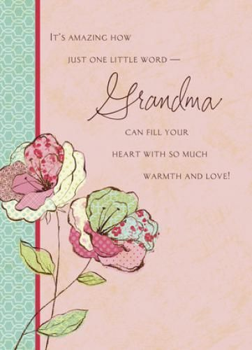 Flowers For Grandma Grandma Birthday Card Mothers Day Gift Ideas