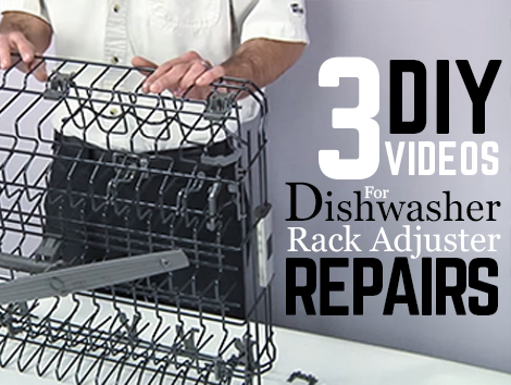 3 Diy Videos For Repair Dishwasher Top Rack Adjuster Tampa Appliance Parts 813 972 4242 Diy Videos Repair Dishwasher