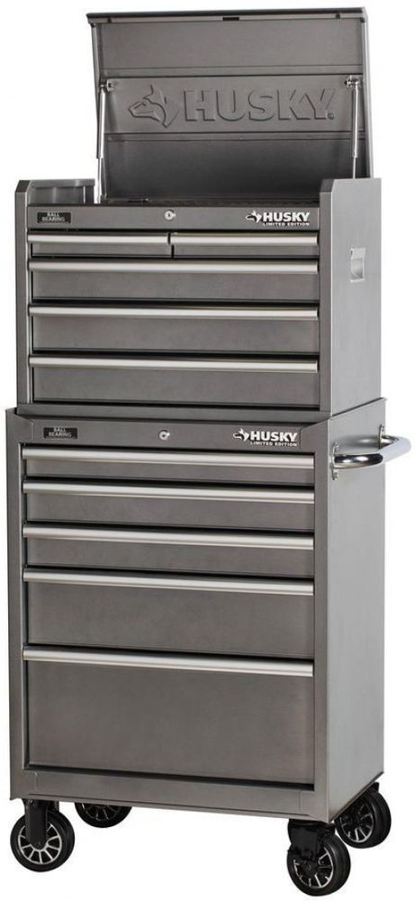 Husky 10 Drawer Mechanics Toolbox Top Amp Bottom Tool