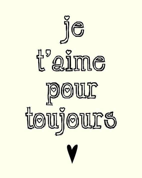 French Love Quotes I'll Love You Foreverpennywishes On Etsy Love Is All You Need