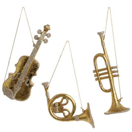 RAZ Festive Forever Musical Instrument Ornament Set