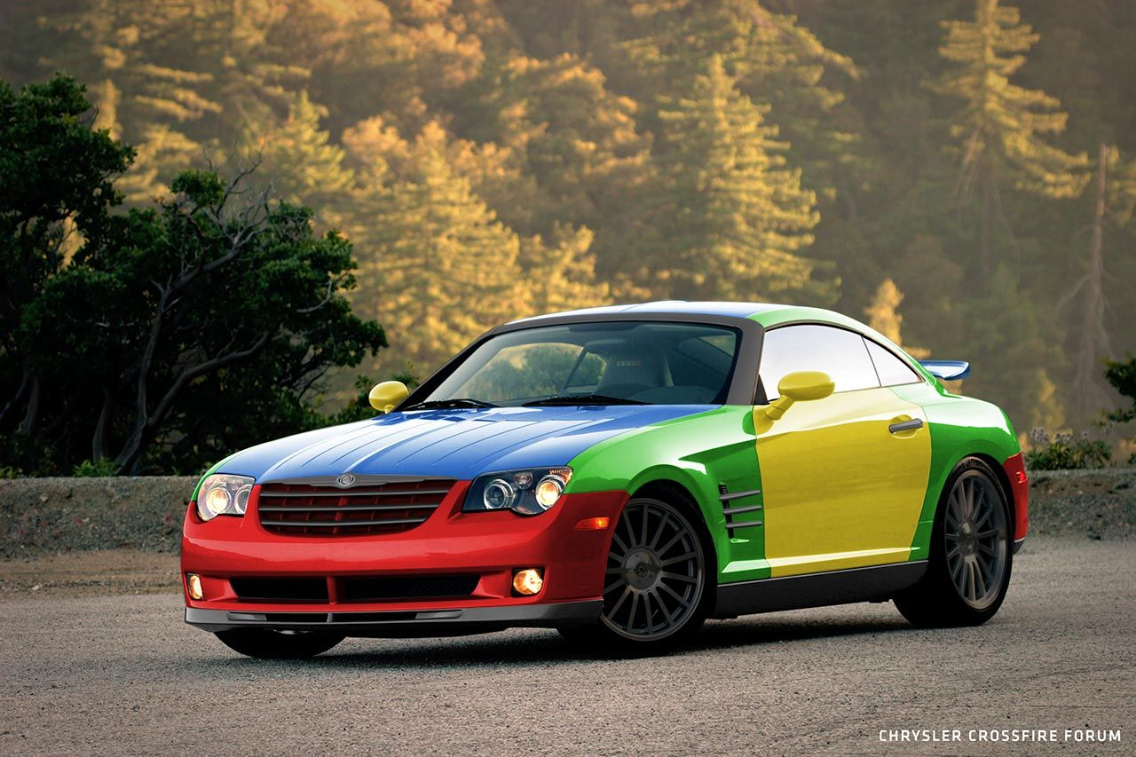 chrysler crossfire - do you remember vw polo harlekin? how about a
