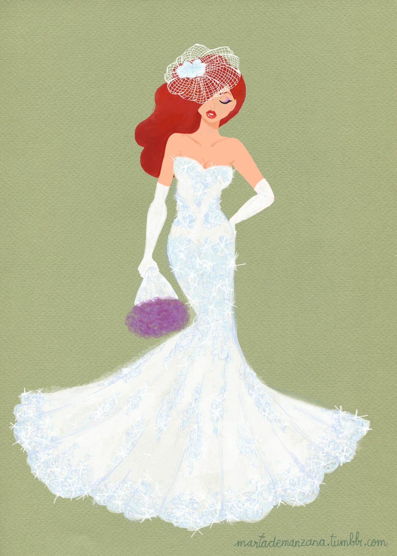 Jessica Rabbit wedding dress by Marta de Manzana | Ilustración ...