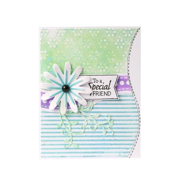 Apple Blossom All Occasion Embossing Folder Swirly Flourish 6in x 6in