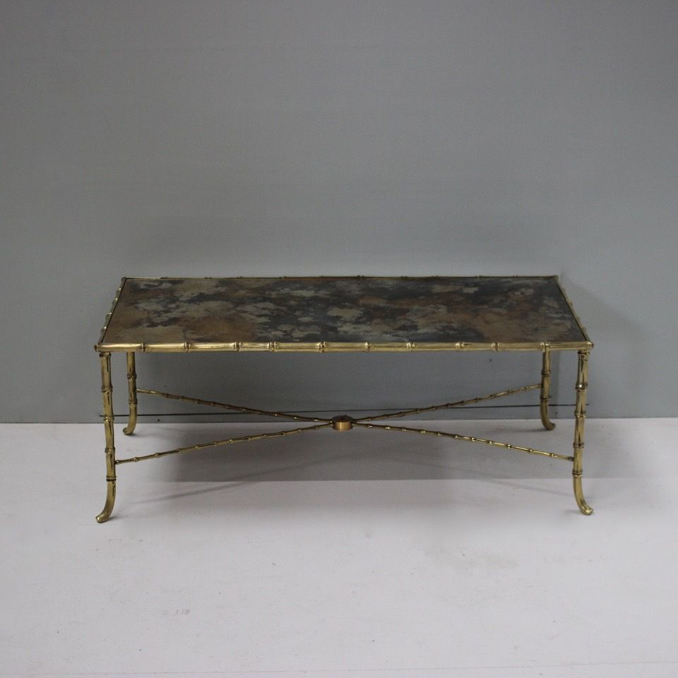 Furniture A Good Quality Mid 20th Century French Brass Coffee