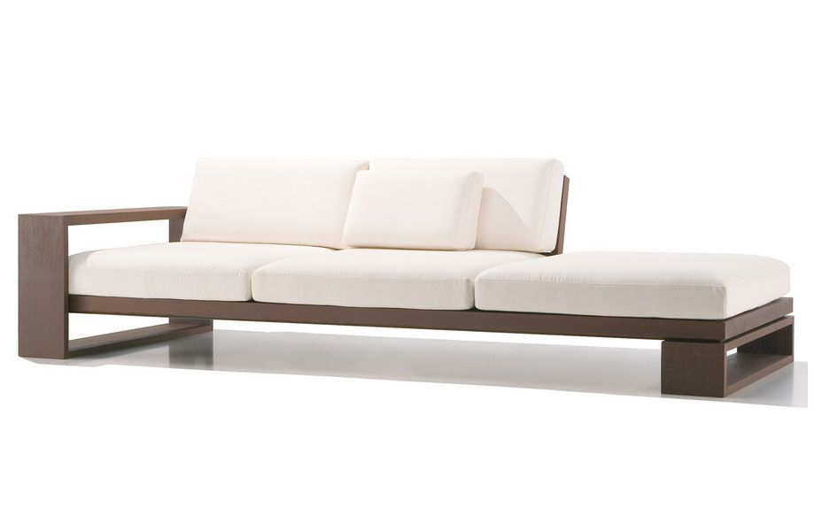 Modern And Contemporary Sofas Loveseats Wood Sofas And Couches Sectional Contemporary Sofa
