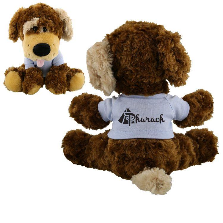 AK192 - Plush Brown Puppy Souvenir - Advertising Stuffed Animals #souvenir #advertising