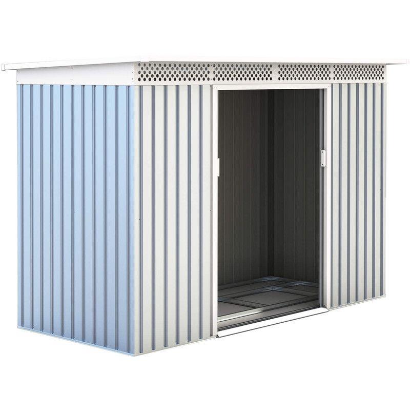 Abri De Jardin En Metal Rutland 3 93 M Ext 142x277x184 Cm