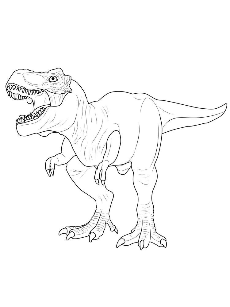 T Rex Colouring : colouring, Jurassic, Coloring, Pages., T-Rex, Indeed, Iconic, Prehistoric, Creature., Di…, Dinosaur, Pages,, Coloring,, Animal, Pages