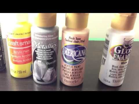 Nail Art Acrylic Paint Set Review And Nail Design Tutorial From