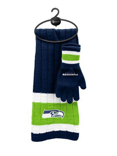 Seattle Seahawks Scarf & Glove Gift Set