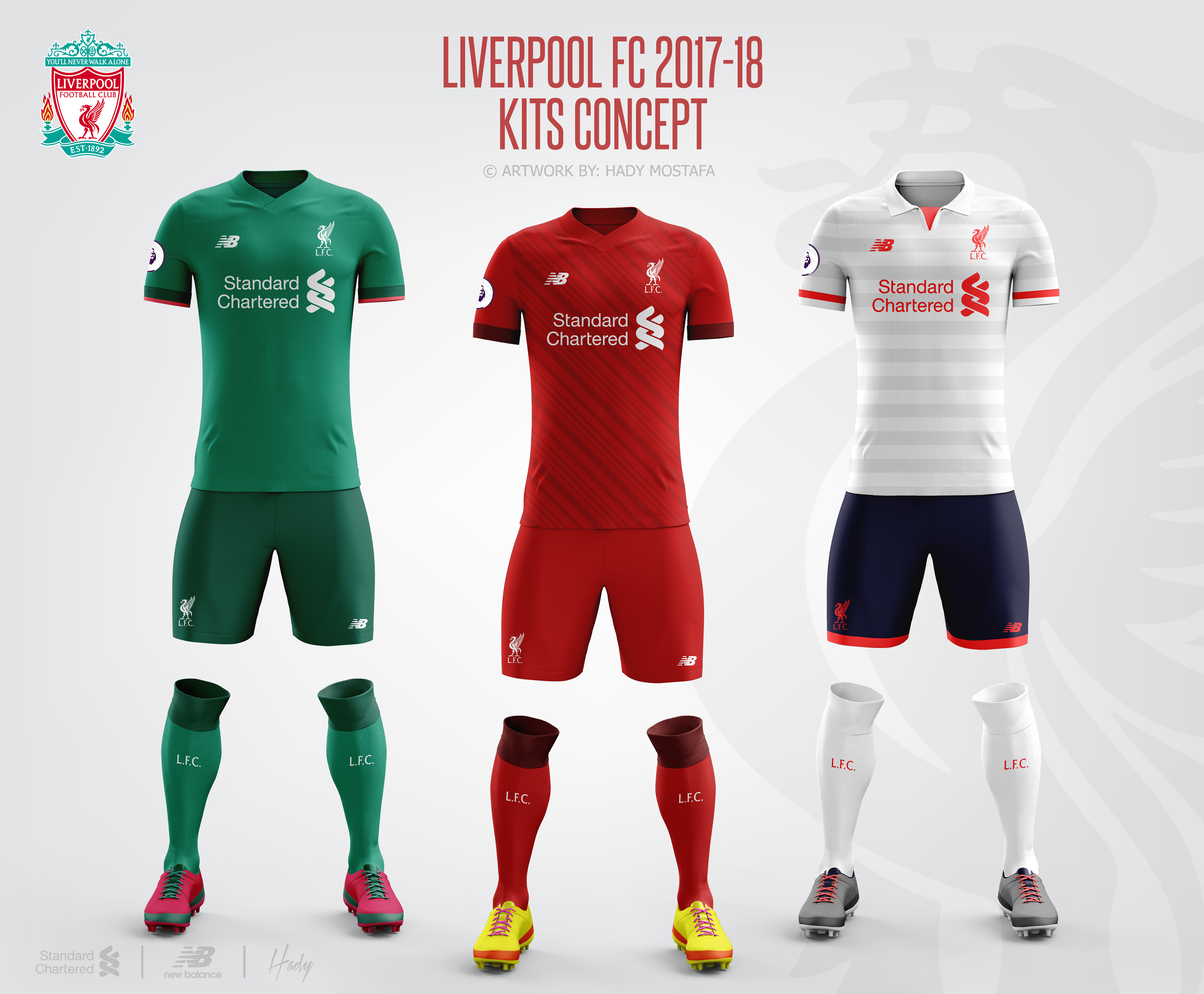 Design your own t shirt liverpool - Liverpool Football Club 2017 18 Kits Concept