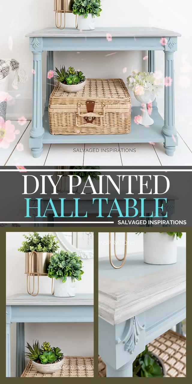DIY Painted Hall Table, #DIY #Hall #Painted #Table