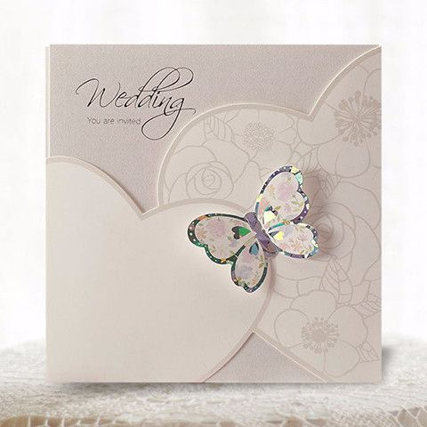 White 3d Pocket Butterfly Wedding Invitations Cho 1833 Butterfly Wedding Invitations Pocket Wedding Invitations Wedding Invitation Cards