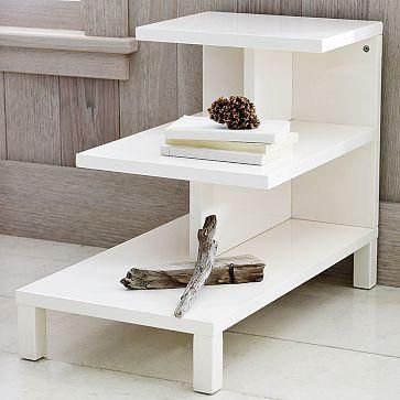 Cute New Consignment Accent Tables Step Side Table West - West elm white side table