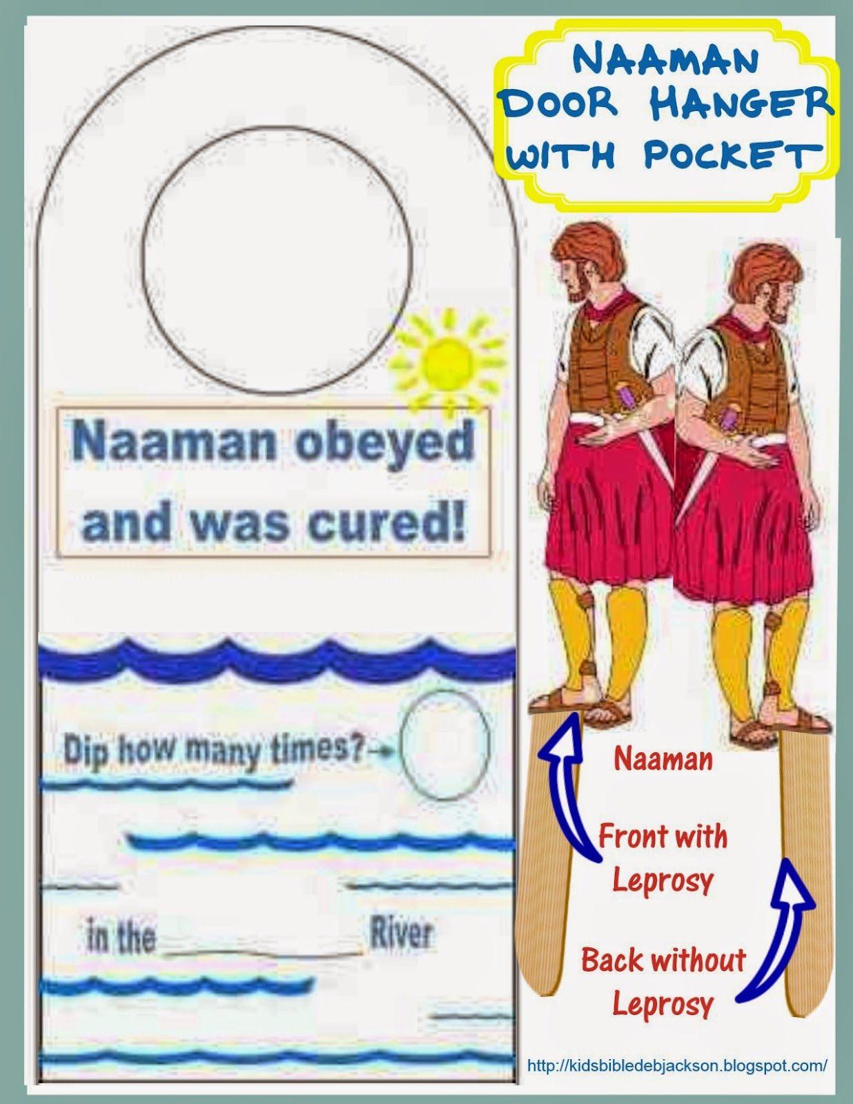 elisha naaman also has a neat lap book for elijah and elisha - Bible Story Coloring Pages Naaman