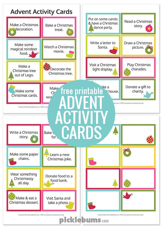 Advent Calendar Printables   Advent activities, Free printable and ...