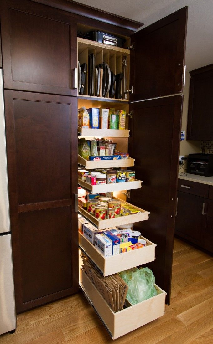 Corner Kitchen Pantry Cabinet With Pantry Shelving Units ...