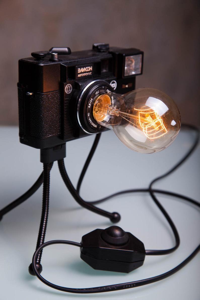 diy Lamp design Photo Camera Lamp / Retro Light