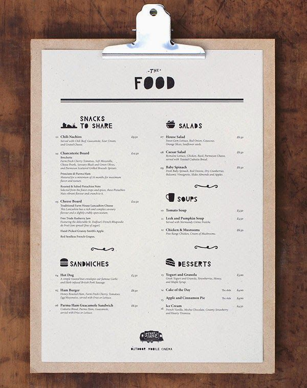 Restaurant Menu Design Inspiration  Print    Restaurant