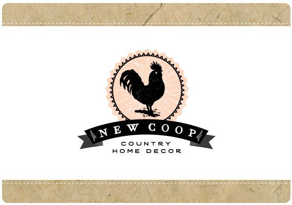 Custom Vector Logo Design Premade Logo Ooak Logo Rooster Vector Logo Design Vector Logo Wedding Logo Design