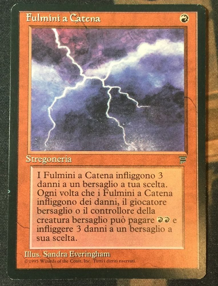 1x Chain Lightning Legends Italian SP MTG Magic Card | eBay