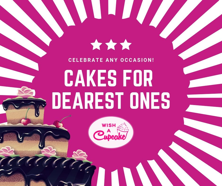 Looking for Online cake delivery in India ? Wish A Cupcake