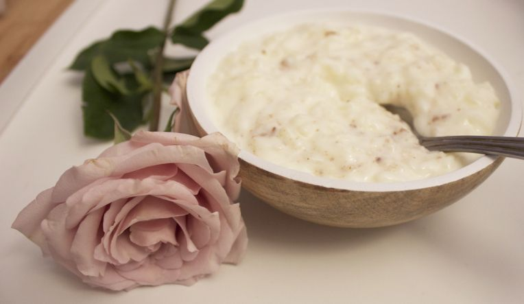 rice pudding with rose water!