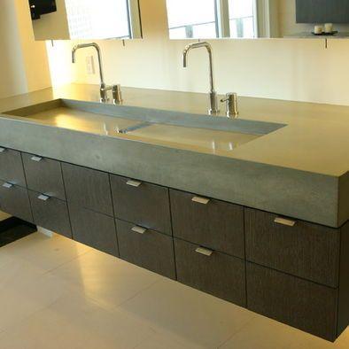 Concrete Vanity Top Design Pictures Remodel Decor And Ideas Modern Bathroom Sink Unique Bathroom Sinks Concrete Bathroom