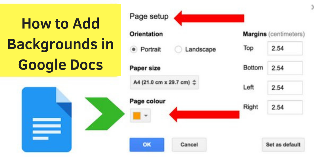 How To Add Backgrounds In Google Docs A Workaround Google Docs Ads Google