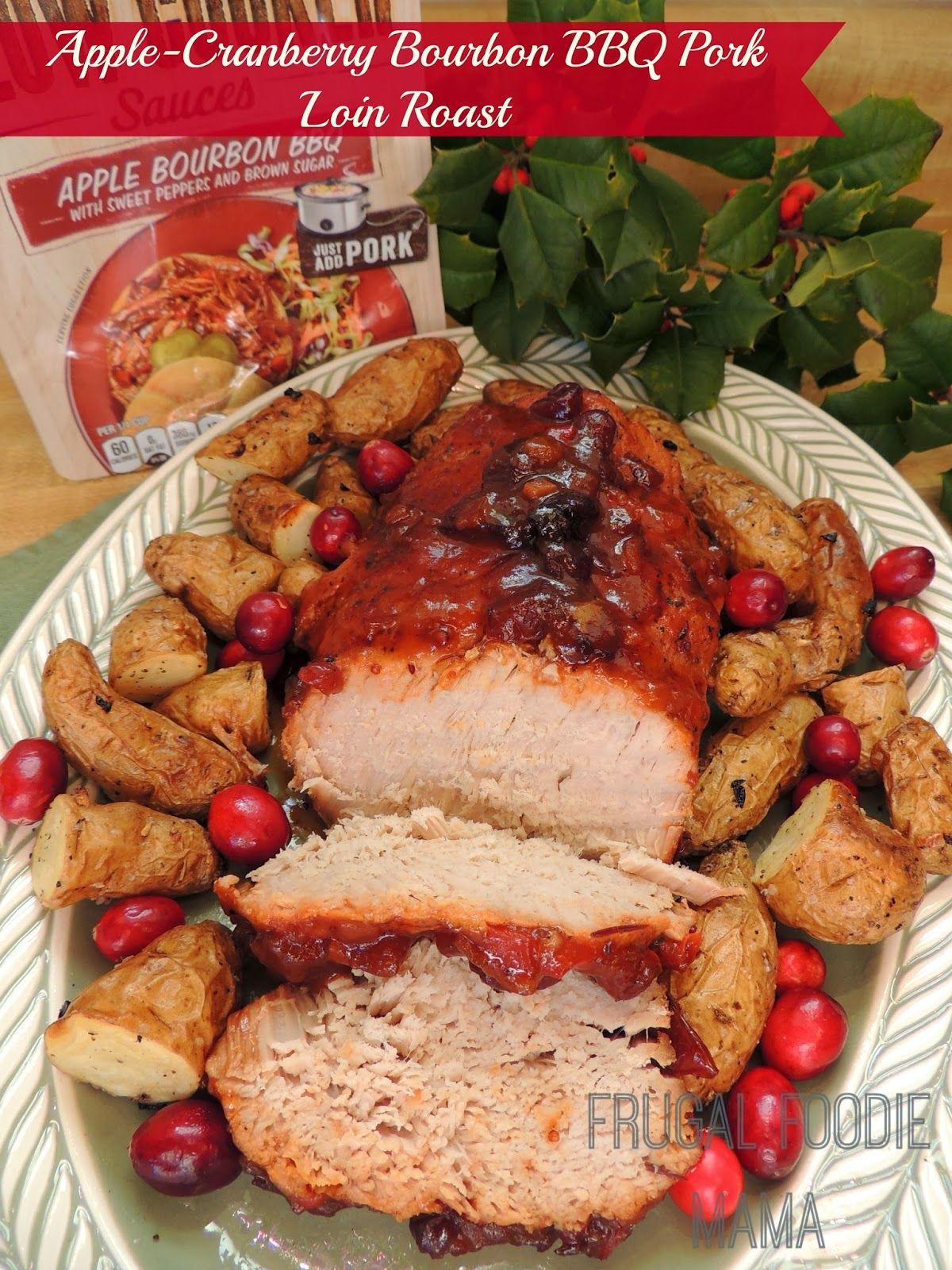 Christmas cranberry pork loin roast recipe