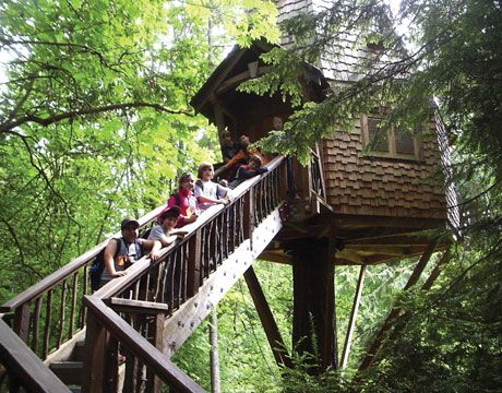 Earlier This Month Students In The Wasatch Academy Middle School Wams Arrived In Seattle Washington Eage Cool Tree Houses Tree House Kids Tree House Plans