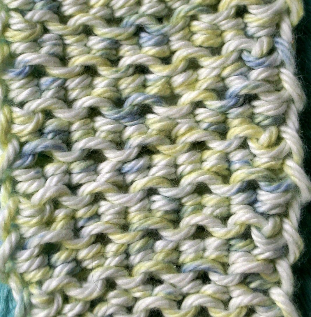 My latest loom knitting invention. The Lock Stitch. Clic the Pic to ...